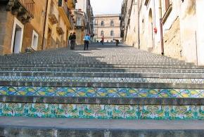 Стрит-арт Лестницы Богоматери Scalinata di Santa Maria del Monte