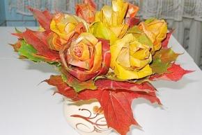 букет из желтых листьев