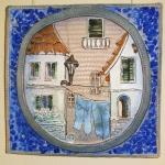 Европейский фрагмент. Шамот, фаянс, глина, смальта.