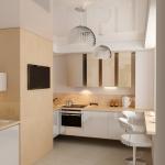 Дизайн квартиры, гостиная-кухня. Ижевск