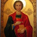 Реставрация иконы Святого В. М. целителя Пантелеймона.