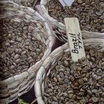 «Зерна» — часть полиптиха «Кофе». Холст/масло, размер 40x65 см. Дата создания: апрель 2013 года. Находится в частной коллекции.