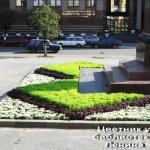 Цветник у здания библиотеки имени Ленина (2009).