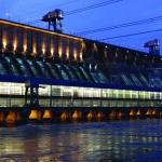Богучанская ГЭС. Комплексное освещение. Складывающиеся опоры СТО