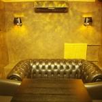 Ночной клуб «Сальвадор», Ижевск. Фактурное покрытие Рельеф Абстракт («Мраморикс»), золотое патинирование