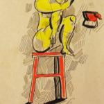 Дама с чайником