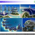 Архитектурная студия «ДГ ПРОЕКТ». Предпроектное предложение. Модульный комплекс с виллами вертикального размещения. Дубай, ОАЭ