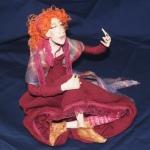 Портретная кукла - Гордость. Цернит, текстиль. Высота 270 мм.