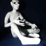 Портретная кукла - Мыслитель. Цернит. Высота 270 мм.