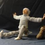 Портретная кукла - Доброе утро. Цернит, текстиль. Высота 270 мм.