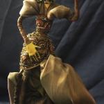 Портретная кукла - Царевна-лягушка на пенсии. Цернит, текстиль.