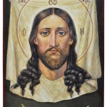 Икона Спас Нерукотворный, размер: 21x14 см. Липа, акрил.