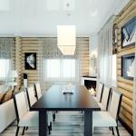 Дом деревянный. Столовая.