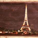 Французский поцелуй. Декоративный поднос деревянный