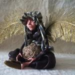 Портретная кукла - Хочу взлететь. Цернит, текстиль. Высота 270 мм.