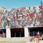 Мозаика на стене завода. Казахстан.