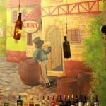 Роспись стен в кафе. Фрагмент