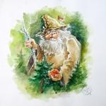 «Лесное яблоко доброты», бумага, акрил