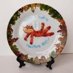 Роспись подарочной тарелки