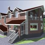 Индивидуальный жилой дом в п. Пирогово