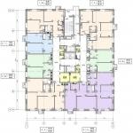 Архитектурное бюро MADE GROUP. Жилой комплекс «ECO Life Весна» на ул. К. Маркса в Ижевске. План 21-23-го этажа