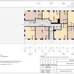 Архитектурное бюро MADE GROUP. Жилой комплекс «Голливуд» на улице 10 лет Октября в Ижевске. План офисного этажа