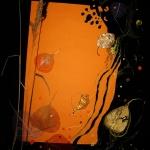 Осень. Цветной картон, цветная бумага, смешанная техника.