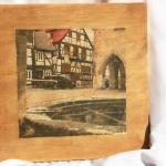 Гостиница «Золотой слиток». Декоративное настенное панно