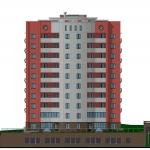 Проект многоэтажного жилого дома со встроенными помещениями по ул. К.Либкнехта в Воткинске