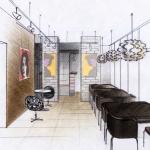 Дизайн проект зала в кафе. Ижевск
