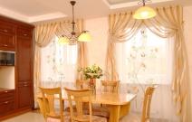 Интерьер столовой в стиле современная классика.