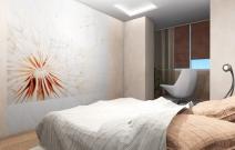 Квартира в мягких пастельных тонах.  Спальня. Ижевск