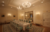 Лепные элементы декора и «венецианская» штукатурка, люстры и двери индивидуального изготовления