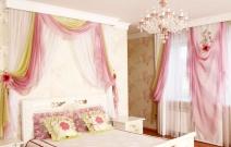 Интерьер спальной комнаты в стиле современная классика.