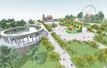 Проект детского парка в Воткинске. Визуализация. Архитекторы Егор Шмыков, Сергей Богданов