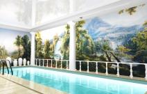 Дом 400 кв.м. 1 вариант бассейна.