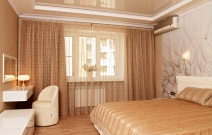 Интерьер спальной в стиле модерн.