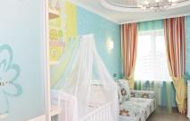 Интерьер детской комнаты в стиле модерн.