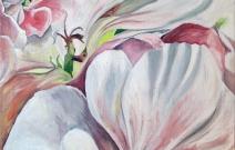 «Яблоневый цвет». Холст/масло, размер 60x60 см. Дата создания: 11.02.2013.