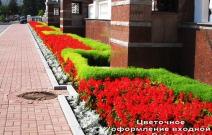 Цветники у здания администрации Президента УР (2009).