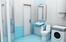 Квартира 3-комнатная. Туалетная комната.