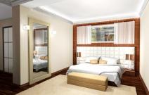 Коттедж в современном минималистическом стиле. Спальня.