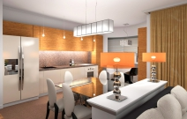 Квартира в стиле фъюжн. Кухня.