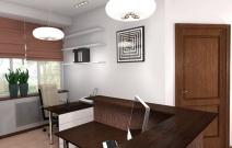 Дизайн офиса в традиционном стиле. Приёмная