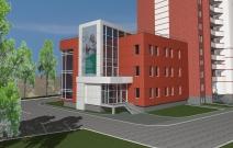 Административное здание, пристроенное к жилому дому №15 (стр.) в 18 скр. жилого района «Север», Ижевск