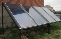 Система солнечных коллекторов для ГВС. Частная гостиница. Московская область