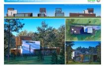 Архитектурная студия «ДГ ПРОЕКТ». Проект современного загородного дома. МО
