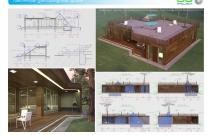 Архитектурная студия «ДГ ПРОЕКТ». Проект загородного дома; террасы с эксплуатируемой плоской кровлей. МО