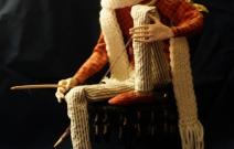 Портретная кукла - Купидон. Керамопластик, текстиль. Высота 270 мм.