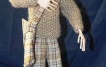 Портретная кукла - Ярик. Цернит, текстиль. Высота 320 мм.